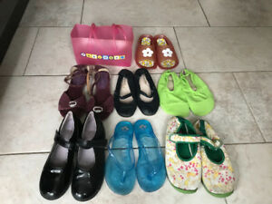 Shoes for 5-7 years old girl. $5 any pair: flip-flops, sandals