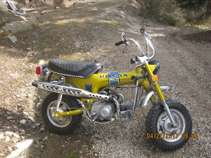 1972 Honda Trail Motor Cycle CT 70cc Antique