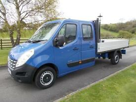 RENAULT MASTER LL35 DCI 125 DOUBLE CAB DROP SIDE PICKUP 14 REG 45,000 MILES