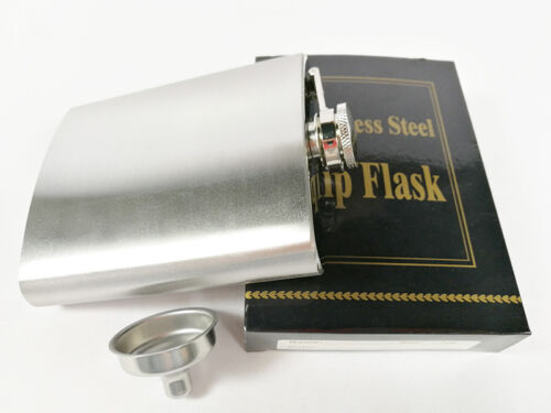 7oz Stainless Steel Whiskey Alcohol Pocket Flask With Portable Funnel Container