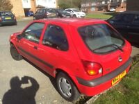 Ford Fiesta finesse 2000, 1.2 manual, 3 doors,73k miles, (spares or repair)