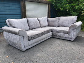 Crush velvet corner £250 can deliver