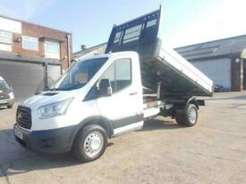 2015 65 FORD TRANSIT DROPSIDE TIPPER 6 SPEED 125 BHP DOUBLE REAR WHEEL WITH FORD