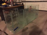 Salt water fish tank with sump and stand