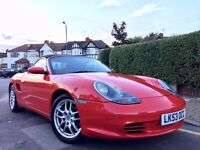 2003 FACELIFT PORSCHE BOXTER 2.7,RED,ONLY **26000** MLS FPSH,MOT,2 OWNERS,PRISTINE**MUST SEE**