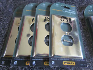 New Stanley Brass / Bronze switch / receptacle covers