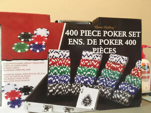400 piece poker set (unopened)