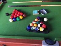 FOLDING POOL AND SNOOKER TABLE 6FT X 3FT
