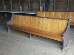 10' long antique church pews.