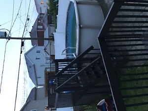 15 Foot pool with Deck