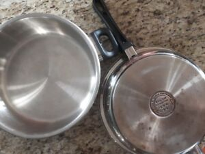 Surgical stainless steel pan with lid (10 inch) waterless cookin