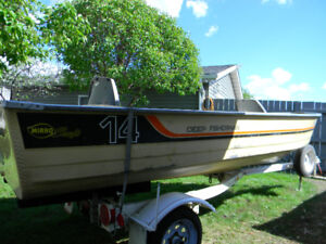 Mirrocraft 14' Deep Fisherman Deep and wide 20 hp Evinrude