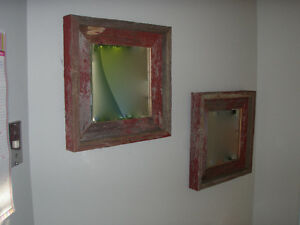 Reclaimed Red Barn Board Framed Mirror