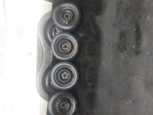 VW WINTER TIRES AND RIMS  $400