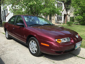 2002 Saturn SL 4dr AUTOMATIC, just safetied, COLD AC, cruise