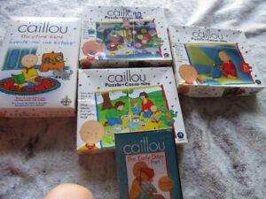 Caillou puzzles, game and dvd