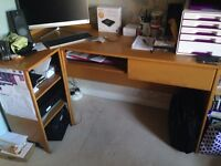 Handmade solid wood desk