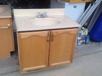 "Bathroom vanity 32"" with sink, faucet & mirror"