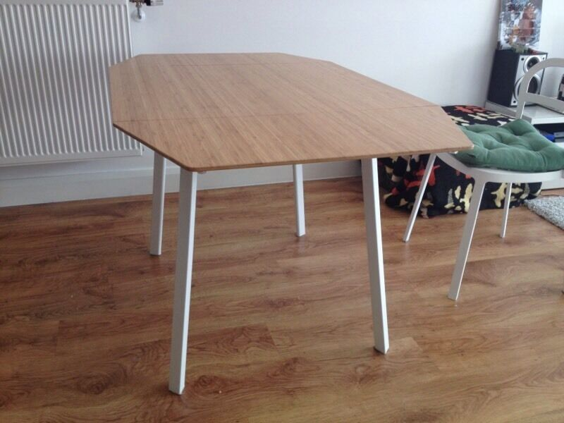 Dining table ikea ps2012 drop leaf table 110 in for Ikea bamboo dining table