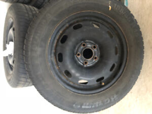 Winter tires and rims - Toyota - 195/65 R15 used on a Corolla