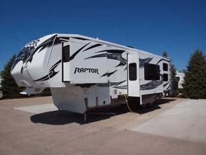 2012 Keystone Raptor 300MP 5th wheel toy hauler/velocity pkg
