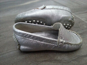 Baby Dress Shoes - Silver Leather Baby Mocs Handmade in Brazil Peterborough Peterborough Area image 3