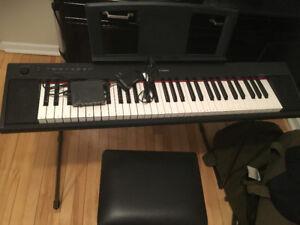 Yamaha Keyboard Piaggero NP-11 w/ Stool