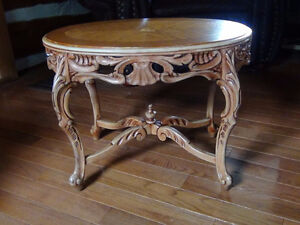 Hand carved antique table Kingston Kingston Area image 1