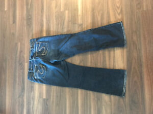 Ladies Silver jeans size 16