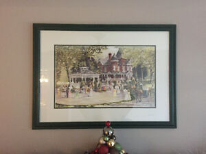 2 Framed Walter Campbell Prints,summer and winter scene