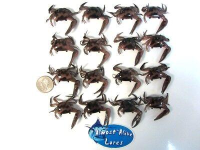 "Rootbeer w//Pepper soft plastics bait fishing Item#136 24ct 3/""Saltwater Crabs"