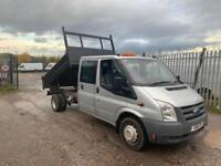95701d06c7 2011 Ford Transit 2.4 tdci 6 speed 115t350 lwb crew cab tipper no vat