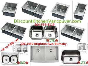 Kitchen sinks 16-18 Guage up to 60% off  for summer sale start