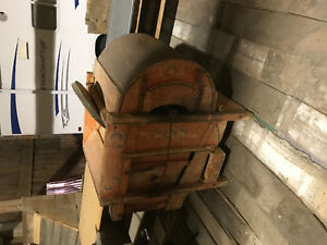 Antique grain seed cleaner