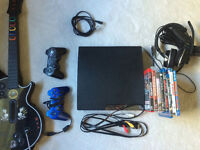 MINT CONDITION PS3 WITH GAMES/HEADSET AND ORIGINAL BOX