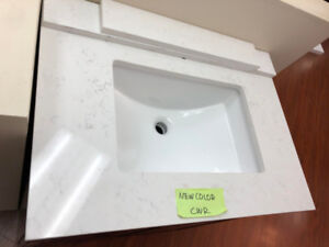Maintenance Free vanity countertops on sale!! More in Showroom!!
