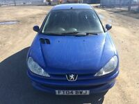 PEUGEOT 206 ZEST - 1124cc LOW MIKES LONG MOT TILL FEB 2018