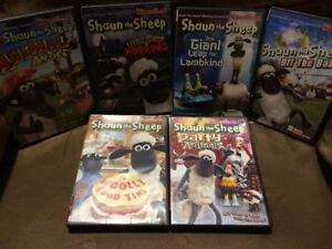 6 Shaun the Sheep DVDs