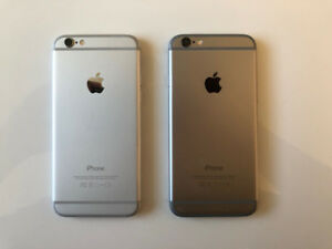 2 iPhones 6 - 16 gig in mint condition