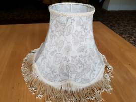 Lampshade - floral pattern - cloth material