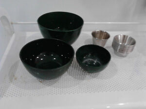 Rubber and Stainless Steel small Mixing BOWLS
