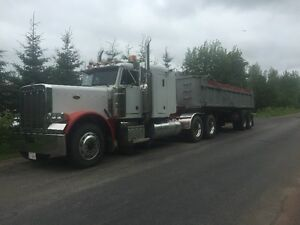 1990 Peterbilt white  End Dump from Alberta