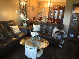 Real Leather Sofa & Love $200 each