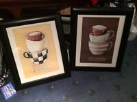 Two framed pictures
