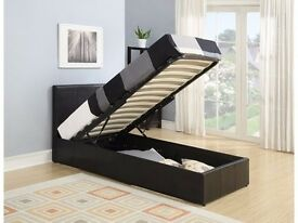 """Brand New Single Leather Storage bed with """" Orthopedic Mattress"""" Express Delivery"""""""