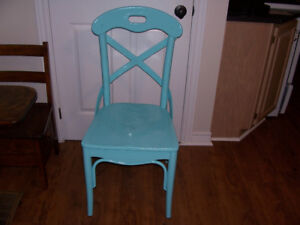 Antique Wooden Chair Freshly Painted