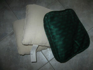 THREE 10-INCH SQUARE SOFA  ACCENT CUSHIONS for COVERING