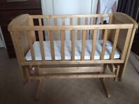 Deluxe Mothercare Crib in excellent condition