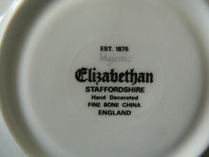 Elizabethan Staffordshire tea cup and saucer West Island Greater Montréal image 2
