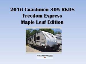 2016 Coachmen Freedom Express 305RKDS Maple Leaf Edition